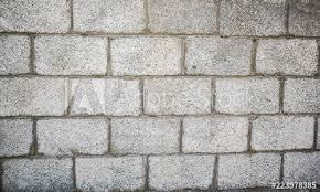 brick slag block wall fence for