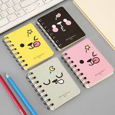 2018 cute student flip coil book portable pocket notepad cartoon notebook customized small book from ellen ya 0 61 dhgate