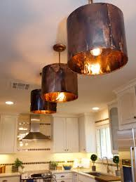 rustic copper pendant lamp shade for kitchen island lighting ideas