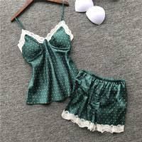 2019 <b>Women</b> Cotton <b>Pajamas Sets</b> with Pants Long Sleeve Turn ...