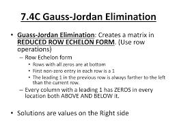 gauss jordan elimination method step by step math 7 elimination n math for kids
