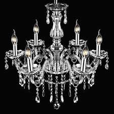 2 of 7 provincial vintage chandelier 6 light smoke gray e12 crystals glass