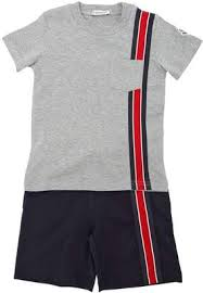 at Luisaviaroma Moncler Cotton Jersey T-Shirt   Shorts