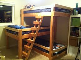 Bedroom:Build Triple Bunk Bed Free Plans Homemade Bunk Beds Plans