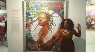 ???? #délire #poolartfair2019 #urchonie... - So Artiste Aguessy Raboteur