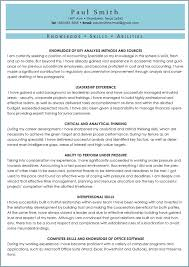 Skills And Abilities Resume Examples Jmckell Com