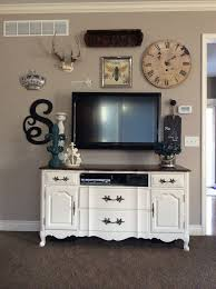 flat screen tv furniture ideas. gallery wall designing around a flat screen tv decor antlers crown create your own tv furniture ideas u