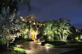 landscape lighting ideas trees with inviting serene outdoor atmosphere and 10 wide front yard for wonderful house using enchanting on green 979x650