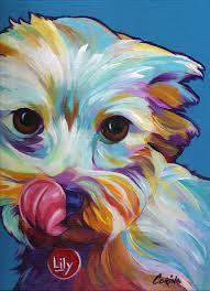 colorful pop art pet portraits dog and cat paintings corina st
