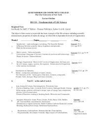 B io 110 academy specific syllabus queensborough