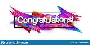 Congratulations Design Congratulations Paper Banner With Colorful Brush Strokes