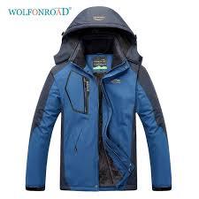 wolfonroad women men plus size jacket outdoor waterproof hiking jacket winter fleece thermal windbreaker camping mountain coat nzxp10014