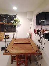 diy hairpin leg dining table plaster disaster