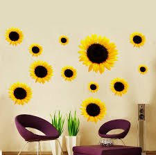 Sunflower Home Decor Sunflower Diy Art Wall Decal Decor Room Stickers Vinyl Removable