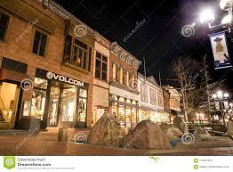 Pearl Street Lights Boulder Colorado Pearl Street Mall Editorial Stock Photo