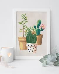 decor tips white framed cactus print canvas art for attractive on cactus wall art framed with cactus wall art framed wall designs