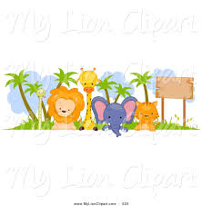 baby animal clipart borders. Wonderful Animal Zoo Animals Clipart Border Intended Baby Animal Clipart Borders