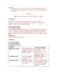 Science Projects Reports Sample Science Experiment Report Template
