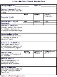 Sample Of Order Form Template Software Change Request Form And Its Sample Template Software