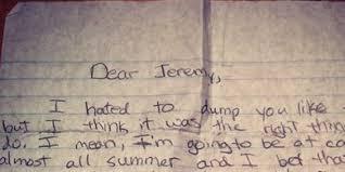 Sad Break Up Letters El Parga