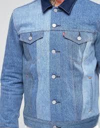 Levis Slim Trucker Denim Jacket May Celebration Contrast