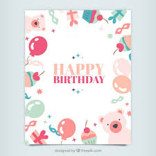 Free Download Cards Cute Happy Birthday Cards Cute Happy Birthday Card Vector Free