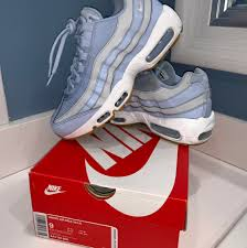 Air Max 95 Light Blue Gum Lightly Used Nike Air Max 95 Baby Blue With Depop
