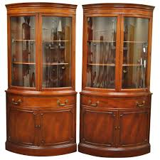 glass form furniture. pair of 1940s curved glass demilune form mahogany corner china cabinets 1 furniture