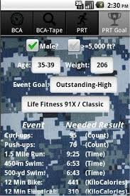 Us Navy Pfa Calculator Android Health Fitness Best Android