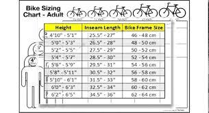 Mountain Bike Sizing Chart Metro Wallpapers