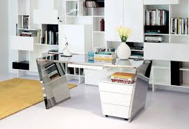 chrome office desk. Modrest Clif - Modern Chrome Office Desk \u0026 Cabinet