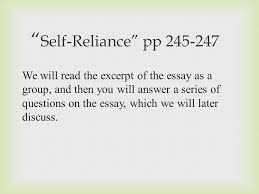 "ralph waldo emerson and r ticism ppt  10 ""self reliance"""