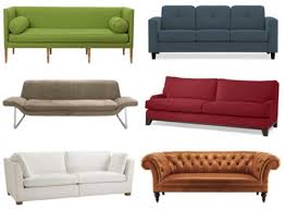 Commonly Found Sofa Styles In Most Homes Its Design Is Sleek And Generally  Has Rounded Edges Cushions Of Different Shapes Green Red Gold Blue Brown  White ...