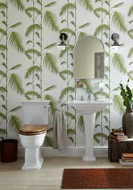 Calm Green Leaf - Bathroom Wallpaper ...