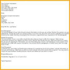 Letter Address Template