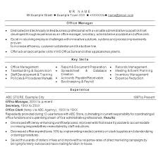 Office Manager Resume Sample Product Manager Sample Resume Office