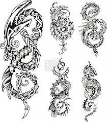 Vektor Stylizované Dračí Uzel Tetování 39713425 Fotobanka Fotkyfoto