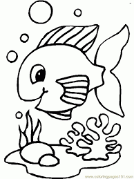 Small Picture Fish Coloring Pages Printable Printable Coloring Pages Design