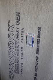 installation of tile backer board