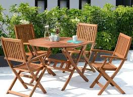 4 seater garden furniture set wooden outdoor folding patio