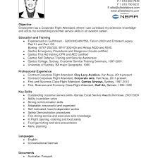 Flight Attendant Resume Sample With No Experience Inspirational In