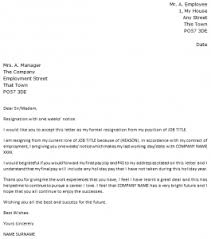 week notice resignation letter   icover org uk