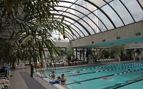 the manhattan plaza health club pool offers an outdoors ambience credit marilynn k yee the new york times