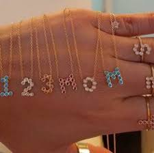 the dana seng jewelry birthstone initial number collection is perfect for mother s day