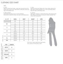 Delias Clothing Size Chart Clothes Size Charts Tildart