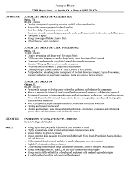 Junior Art Director Resume Samples Velvet Jobs