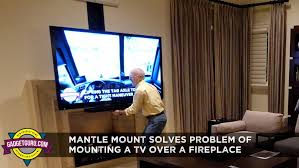mantelmount solves the age old problem of mounting a tv over a fireplace
