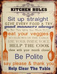 Retro Kitchen Wall Decor Found It At Wayfair Kitchen Rules Sign Wall Decor Home