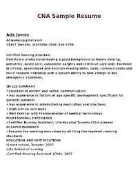 Certified Nursing Assistant Job Description For Resume One Page