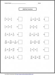 Grade Grade 4 Fractions Worksheet Photo - All About Printable ...